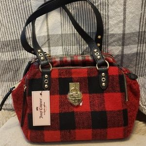 JUICY COUTURE Plaid Satchel NWT